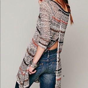 Sweaters - Free People Loose Knit Crochet Backless Sweater